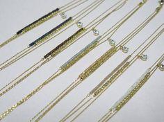 Tiny bead necklace//Tiny bead bracelet by thinlight on Etsy