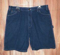 Dickies Mens Denim Carpenter Utility Shorts Black Size 38 #12 #Dickies #CarpenterUtility