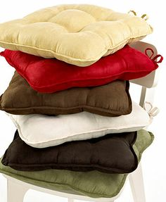 Waverly Chair Cushions, Solid Color Sets Of 2 Red 29.99 10%off Thru 1