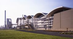 industrial architecture | An undulating mantle making an analogy with the geographical area ...