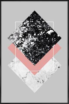 Geometric Textures 1 als Poster im Kunststoffrahmen | JUNIQE