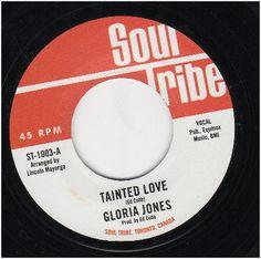 "GLORIA JONES Tainted Love / Instrumental NEW NORTHERN SOUL 45 (SOUL TRIBE) 7"" on eBid United Kingdom Tamla Motown, Tv Doctors, Sweet Soul, Northern Soul, Music Images, Keep The Faith, Soul Music, Instrumental, 60s Mod"