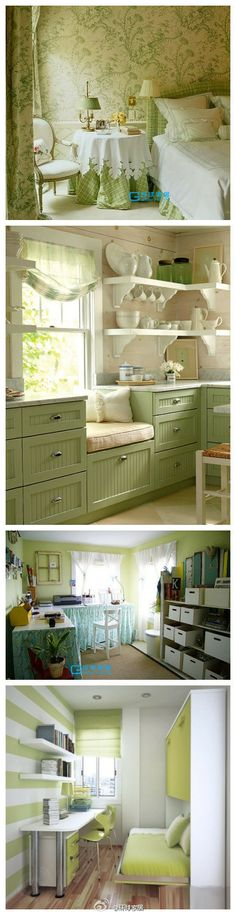 Refreshing green accents