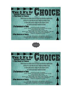 Feb Lesson #4 YW: Why Do The Choices I Make Matter? 3R'S Of Choice (Plan of Salvation)
