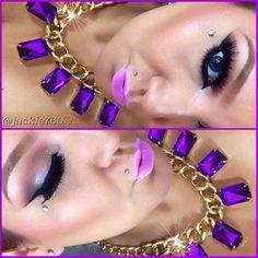 Purple Things, Diva, Eyeshadow, Make Up, Earrings, Hair, Beautiful, Jewelry, Ear Rings