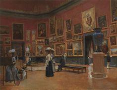 Visitors to the museum in Grenoble, Jules Bernard.