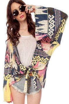 One Teaspoon Colombian Kimono Cardigan in Indigo
