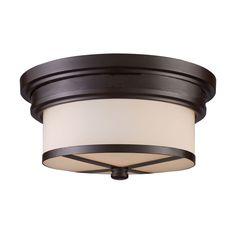 ELK LIGHTING Flush Mount Oiled 2-light Fixture