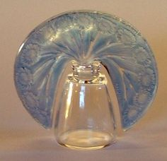 Tiara-stoppered perfume bottle by Rene Lalique c.1920