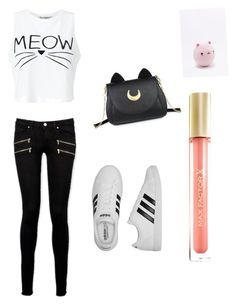 Meowza! by ay0ava on Polyvore featuring polyvore, fashion, style, Miss Selfridge, Paige Denim, adidas, Usagi, Max Factor, NPW and clothing