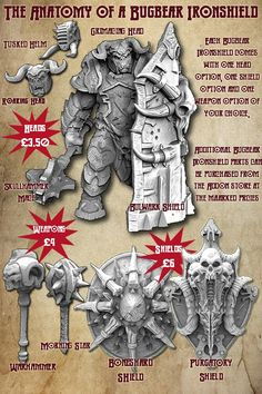 The above image shows the different options available for the Bugbear Ironshield and their individual costs in the addon store.