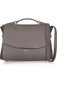 Nina Ricci Lutece medium leather and suede shoulder bag | THE OUTNET