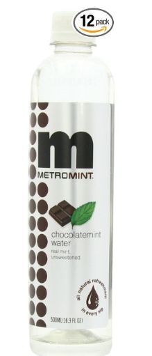 #Metromint #ChocolateMint #Water 12 pack $19.72 ChocolateMint water has a  refreshing cooling sensation, soothes the  stomach, calms, freshens breath, hydrates and satisfies a sweet tooth without sugar or calories