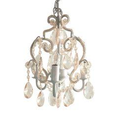 Tadpoles 3-Light White Diamond Mini Chandelier-cchapl010 - The Home Depot