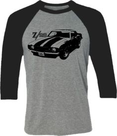 Retro Z28 Muscle Car tShirt Retro Camaro Car by SpokeNwheelz
