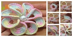 This 3D Spiral 8-Petal Crochet Flower Trim is great to make as a gorgeous gift. This also makes a wonderful embellishment for clothing or accessories.