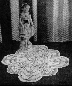 Filet Doily Crochet, Doilies Flower Thistle Pattern