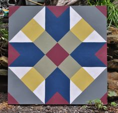 Crossroads  2' x 2' hand painted Barn Quilt by stellassweetheart, $48.00
