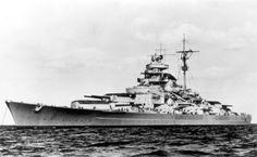 German Kriegsmarine Battleship Tirpitz On Sea Trials #Tirpitz #Battleship #Kriegsmarine #GermanBattleship