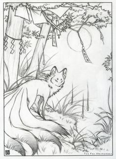 Fox & Wisps Sketch (Commission), 2014 Facebook | Etsy | Instagram