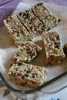 No bake granola bars - gluten free
