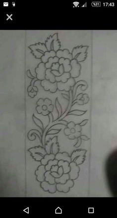Grand Sewing Embroidery Designs At Home Ideas. Beauteous Finished Sewing Embroidery Designs At Home Ideas. Border Embroidery Designs, Embroidery Patches, Hand Embroidery Patterns, Ribbon Embroidery, Floral Embroidery, Hand Work Embroidery, Machine Embroidery, Shirt Embroidery, Bordado Jacobean