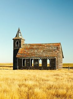 The abandoned Rocky Valley Lutheran Church, the last building still standing what was Dooley, Montana. Photo by Todd Klassy