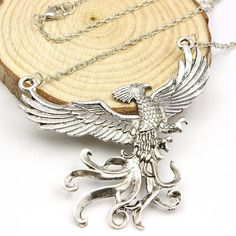 A Large Phoenix Bird Necklace,