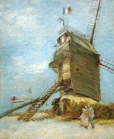 GOGH, Vincent van Dutch Post-Impressionist (1853-1890)_Le Moulin de la Galette 1886