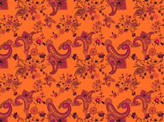 """Sunset Paisley"" by Tzadkiel amber, burgundy, fiery, fuchsia, glow, hot, iridescent, magenta, orange, oriental"