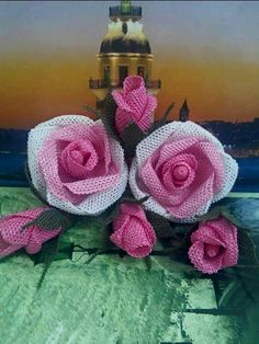 Needle Lace, Lace Making, Knit Crochet, Crochet Earrings, Knitting, Floral, Flowers, How To Make, Crafts