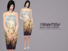 Melissa dress by tangerinesimblr at TSR via Sims 4 Updates