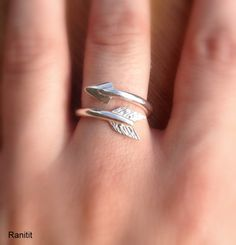 Arrow Ring Sterling Silver by Ranitit on Etsy