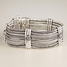 Our Silver Textured Row Chain Bracelet features a heavy chain link statement design and a bright burnished finish.