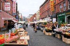 Dublin | Mercado pintoresco de la Moore Steet en Dublín.