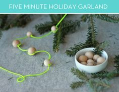 credit: Brittni Mehlhoff [http://www.curbly.com/users/brittnimehlhoff/posts/14493-how-to-make-a-neon-holiday-garland-in-five-minutes-or-less]
