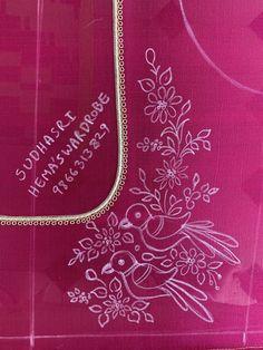 Nanditha Venkatraman's media statistics and analytics Handmade Embroidery Designs, Peacock Embroidery Designs, Hand Embroidery Design Patterns, Embroidery Monogram Fonts, Hand Embroidery Dress, Kurti Embroidery Design, Hand Embroidery Videos, Embroidery Works, Creative Embroidery