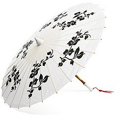 Black and White Parasol for about $5 awesome prop