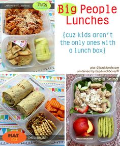 Yummy Lunch Ideas - easylunchboxes - I like the portioning too. Too much left to error with baggies!!