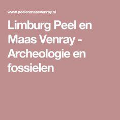 Limburg Peel en Maas Venray - Archeologie en fossielen