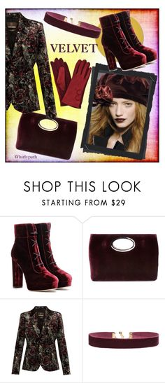"""""""Velvet!"""" by whirlypath ❤ liked on Polyvore featuring Jimmy Choo, Donald J Pliner, Roberto Cavalli and Vanessa Mooney"""