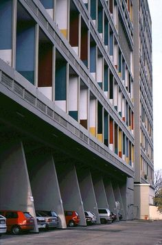 Unite d'habitation, Berlin. [Architect: Le Corbusier]