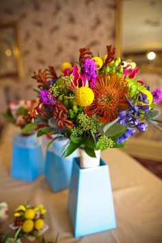 Flowers From the Alice in Wonderland Wedding at the Hotel Boulderado (Photo by Frances Photography)