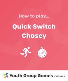 Quick Switch Chasey | Youth Group Games Large Group Games, Youth Group Games, After School, When Someone, Games To Play, School Ideas, Activities