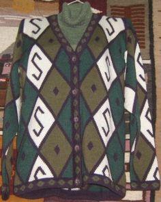 #Damen #Set aus Designer #Strickjacke und #Pullover, #Alpakawolle