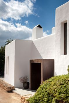Modern Ibiza home by TG Studio - front entrance                                                                                                                                                                                 More