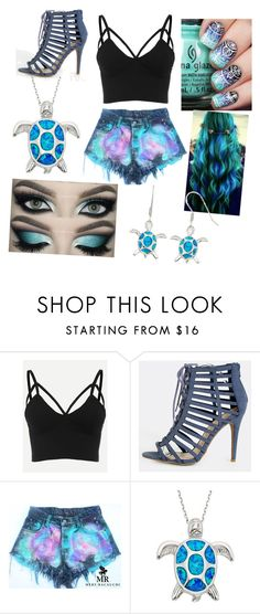 """""""who likes blue?"""" by emerald-we ❤ liked on Polyvore featuring Été Swim"""