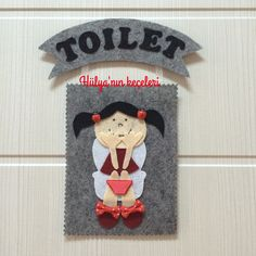 WC kapı süsü...