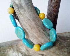Stretch Bracelet  Gemstones in fall colours  by BlueWorldTreasures