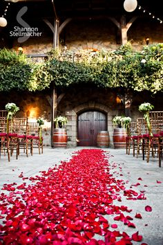 V. Sattui Winery Wedding, SO pretty...would LOVE tohave my ceremmony at a winery, then the reception inside or at a near by country club...New years eve, or spring...